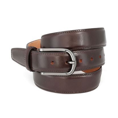 Picture of Dark Brown Smooth Calf Leather Belt - 3 cm. wide