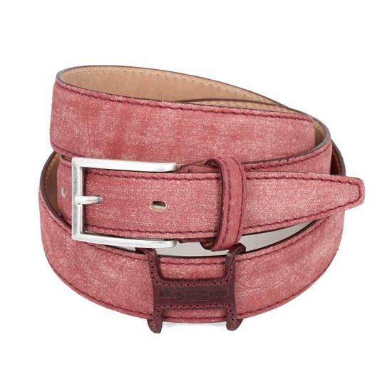 Picture of Bordeaux Vintage Shaped Calf Leather Belt