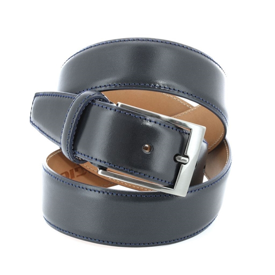 Picture of Blue Smooth Calf Leather Belt - 3,5 cm. wide