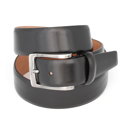 Picture of Black Smooth Welded Calf Leather Belt - 3,5 cm. wide