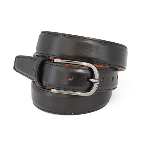 Picture of Black Smooth Calf Leather Belt - 3 cm. wide