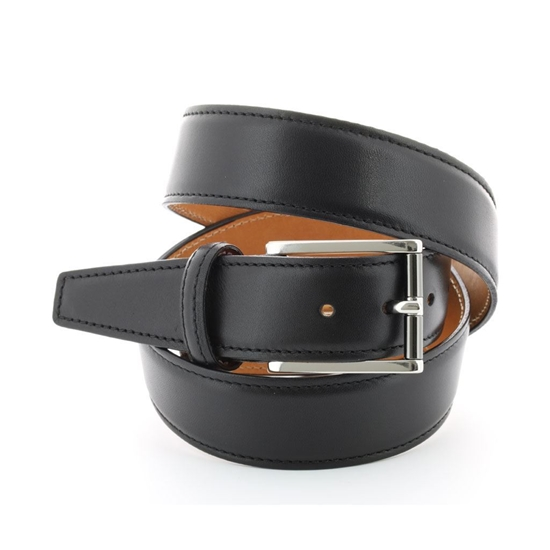Picture of Black Nappa Soft Calf Leather Belt - 3,5 cm. wide