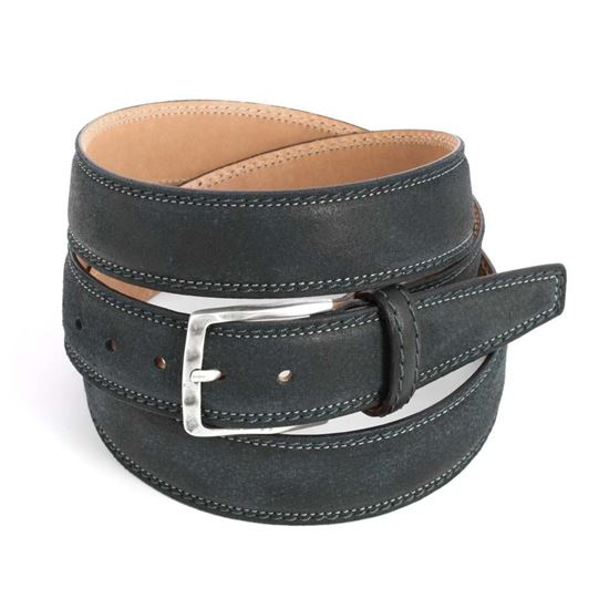 Picture of Black Calf Leather Belt - 3,5 cm. wide