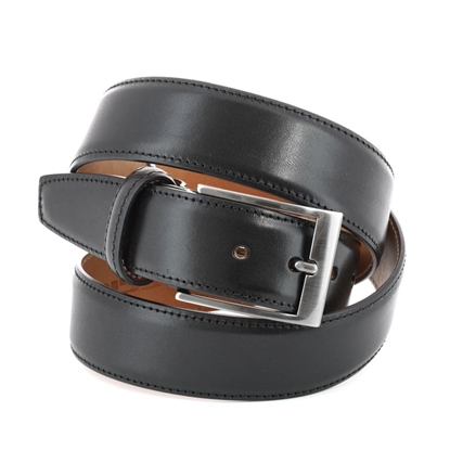 Picture of Black Smooth Calf Leather Belt - 3,5 cm. wide