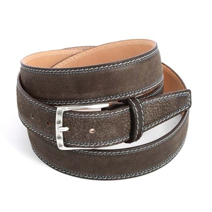 Picture of Dark Brown Calf Leather Belt - 3,5 cm. wide