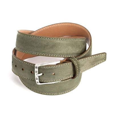 Picture of Mud Brown Calf Leather Belt - 3,5 cm. wide