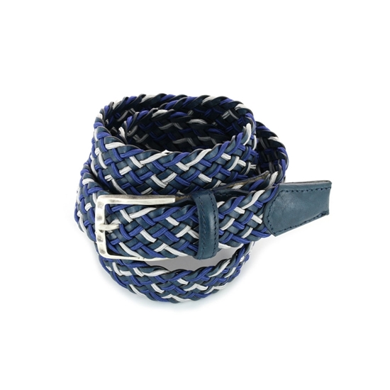 Picture of Blue & Grey Braided Belt - 3,5 cm. wide