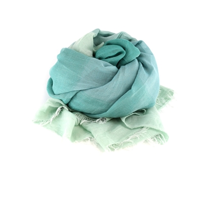 Picture of Green Degradè Colors Lightweight Scarf
