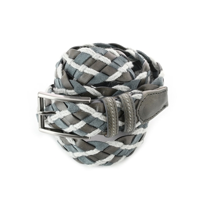 Picture of Grey & White Braided Belt - 3,5 cm. wide