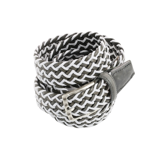 Picture of White & Grey Braided Belt - 3,5 cm. wide