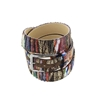 Picture of Colorful Patterned Wool Fabric Belt - 3,5 cm. wide