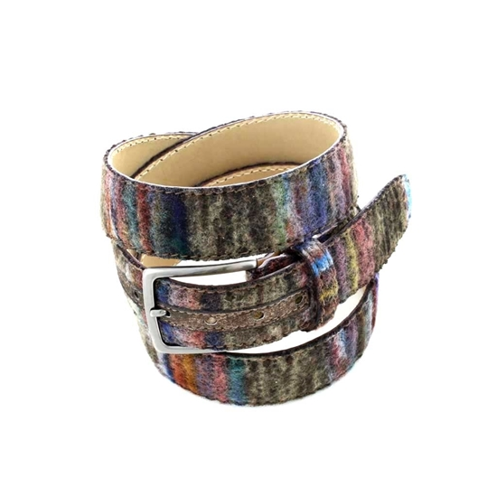 Picture of Multicolor Wool Fabric Belt - 3,5 cm. wide