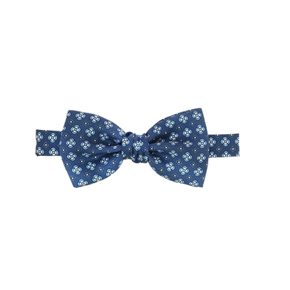 Picture of Little Flowers Patterned Silk Bow Tie