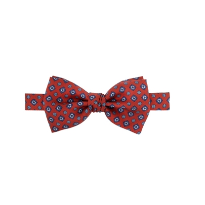 Picture of Red Little Flowers Patterned Silk Bow Tie