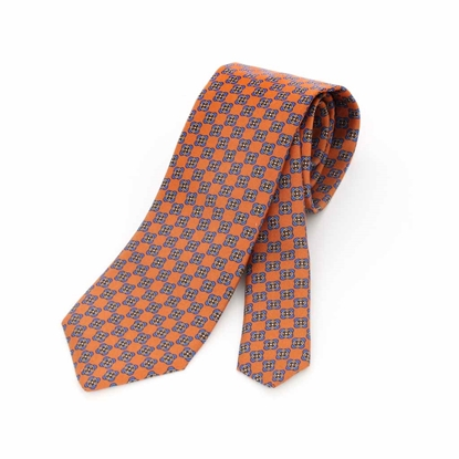 Picture of Geometric Pattern Silk Tie - 8 cm. wide