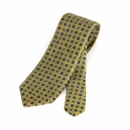 Picture of Geometric Pattern Wool Tie - 8 cm. wide