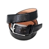 Picture of Black Snake Print Calf Leather Belt - 3,5 cm. wide