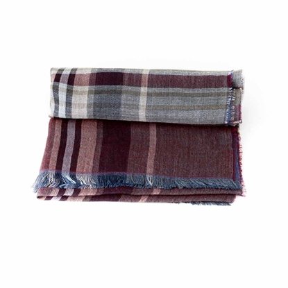 Picture of Raised Fabric Checked Scarf