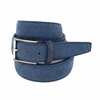 Picture of Avion Blue Perforeted Alcantara Belt - 3,5 cm. wide