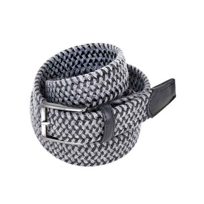 Picture of Black & Grey Braided Belt - 3,5 cm. wide