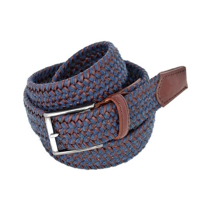 Picture of Blue & Brown Braided Belt - 3,5 cm. wide
