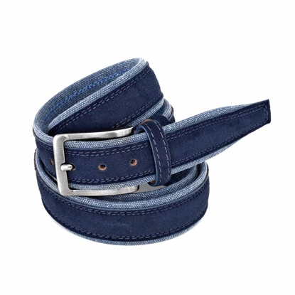 Picture of Blue Alcantara Belt - 3,5 cm. wide