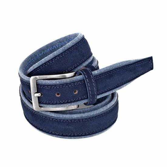 Picture of Blue Alcantara Belt - 3,5 cm. wide