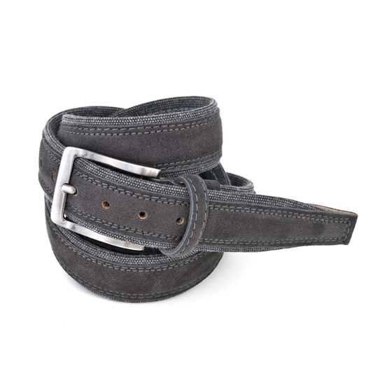 Picture of Dark Grey Alcantara Belt - 3,5 cm. wide