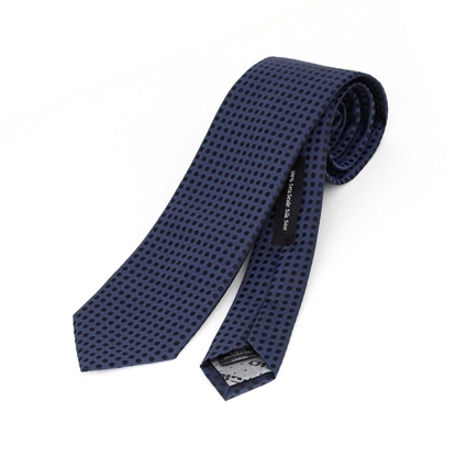 Picture of Dots Pattern Jacquard Silk Tie - 7 cm. wide