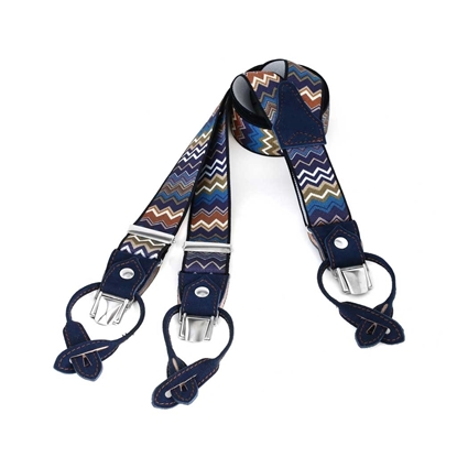 Picture of Geometric Fancy Convertible Ends Suspenders - 3,5 cm. wide