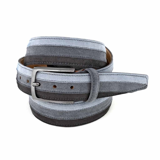 Picture of Three Greys Alcantara Belt - 3,5 cm. wide