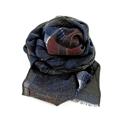 Picture of Wool Fabric Checked Scarf