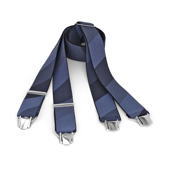 Picture of Large Stripes Clip Suspenders - 3,5 cm. wide
