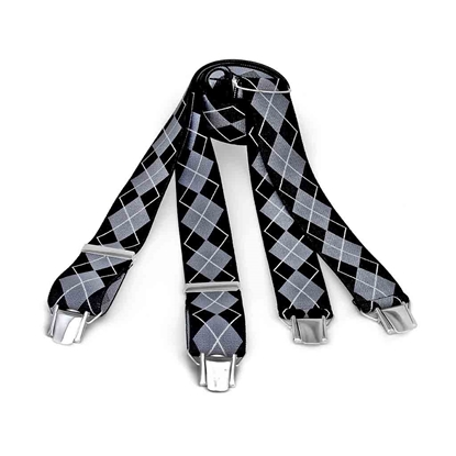 Picture of Lozange Pattern Clip Suspenders - 3,5 cm. wide