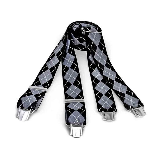 Picture of Lozange Pattern Clip Suspenders - 3,5 cm. wide