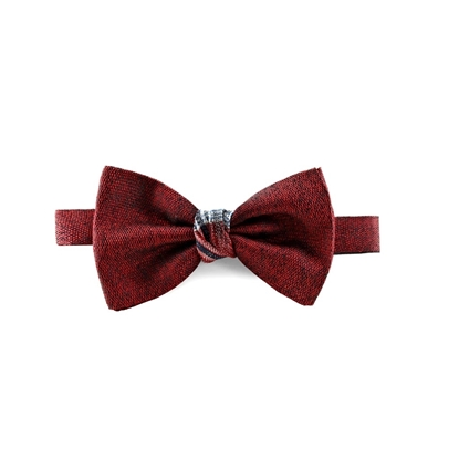 Picture of Red Salt & Pepper Silk Bow Tie