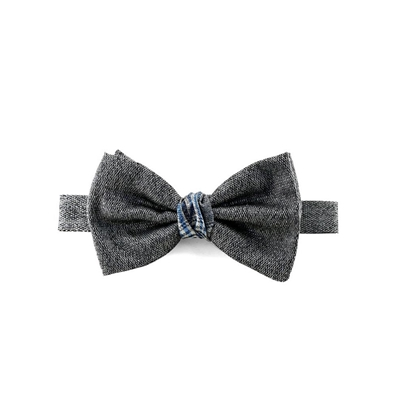 Picture of Grey Salt & Pepper Silk Bow Tie