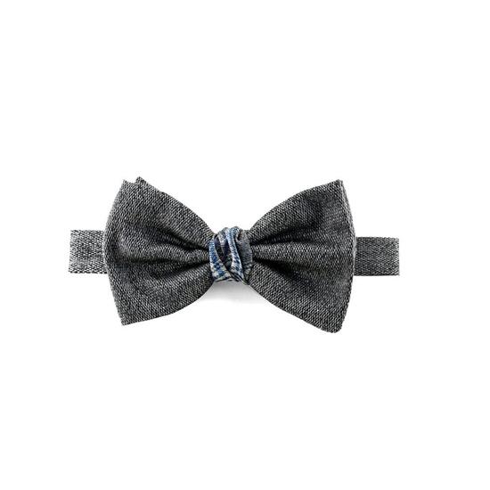 Picture of Grey Salt & Pepper Silk Bow Tie