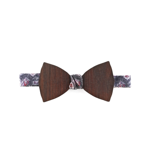 Picture of Dark Wood Bow Tie