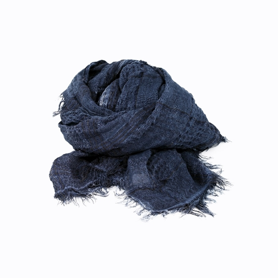 Picture of Blue Embossed Fabric Scarf