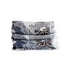Picture of Blue & Burgundy Flowers Lightweight Scarf
