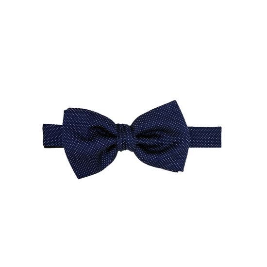 Picture of Blue & White Micro Pattern Silk Bow Tie