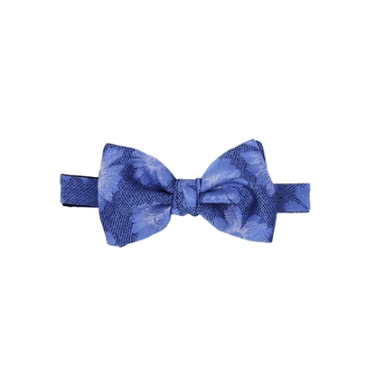 Picture of Light Blue Flowers Pattern Silk Bow Tie