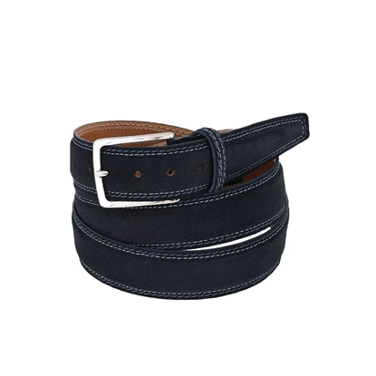 Picture of Blue Nubuk Leather Belt - 3 cm. wide
