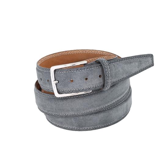 Picture of Dark Grey Nubuk Leather Belt - 3 cm. wide