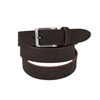 Picture of Dark Brown Flat Calf Leather Belt - 3,5 cm. wide