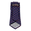 Picture of Blue & Red Micro Pattern Jacquard Silk Tie - 7 cm. wide