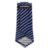 Picture of Blue Regimental Jacquard Silk Tie - 7 cm. wide