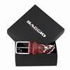 Picture of Red, Light Grey & Dark Grey Braided Belt - 3,5 cm. wide
