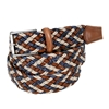 Picture of Sand, Blue & Cognac  Braided Belt - 3,5 cm. wide